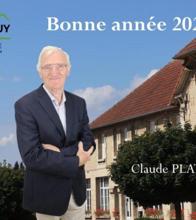 2021.Vœux de Claude PLATRIER Maire de Crouy