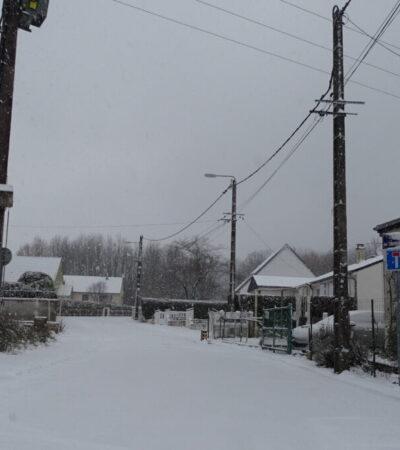 Paysages d'hiver, chutes de neige à Crouy.