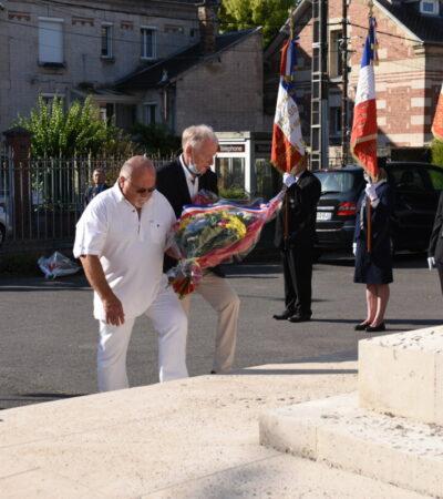 12 septembre 2021. Hommage aux victimes des guerres au monument aux morts de Crouy.